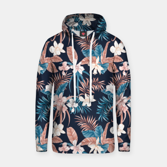 Thumbnail image of TROPICAL ORCHID PRINT IN NAVY Hoodie, Live Heroes