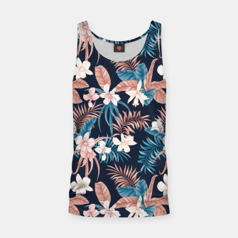Thumbnail image of TROPICAL ORCHID PRINT IN NAVY Tank Top, Live Heroes