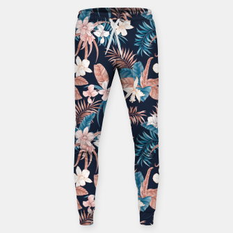 Thumbnail image of TROPICAL ORCHID PRINT IN NAVY Sweatpants, Live Heroes