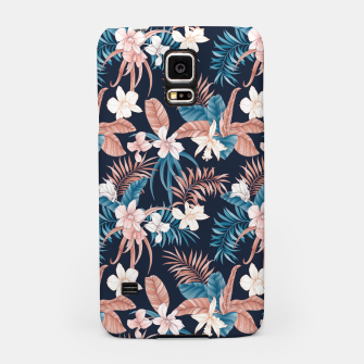 Thumbnail image of TROPICAL ORCHID PRINT IN NAVY Samsung Case, Live Heroes