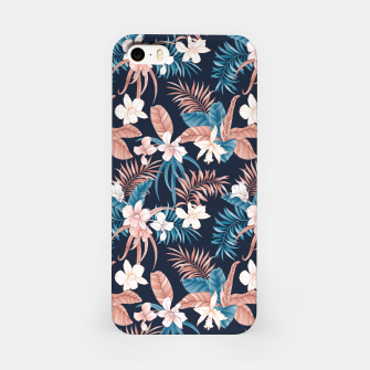 Thumbnail image of TROPICAL ORCHID PRINT IN NAVY iPhone Case, Live Heroes