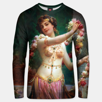 The Belly Dancer by Hans Zatzka Old Masters Reproduction Unisex sweater obraz miniatury