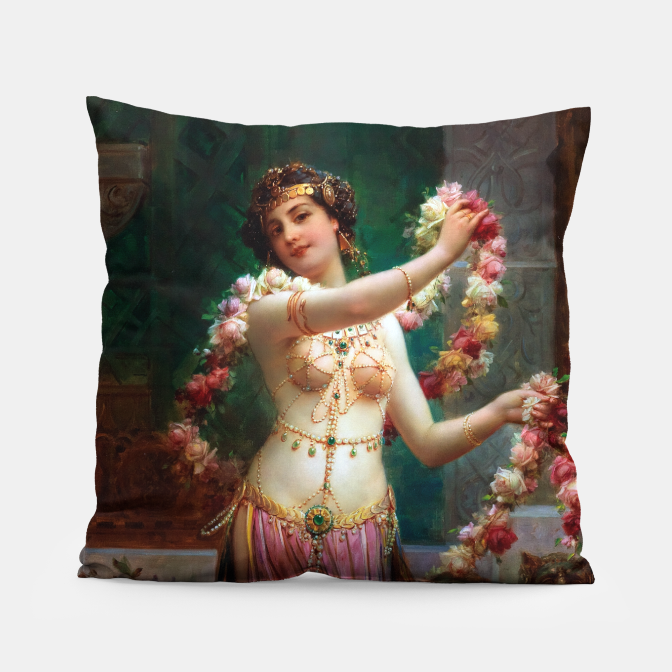 Zdjęcie The Belly Dancer by Hans Zatzka Old Masters Reproduction Pillow - Live Heroes