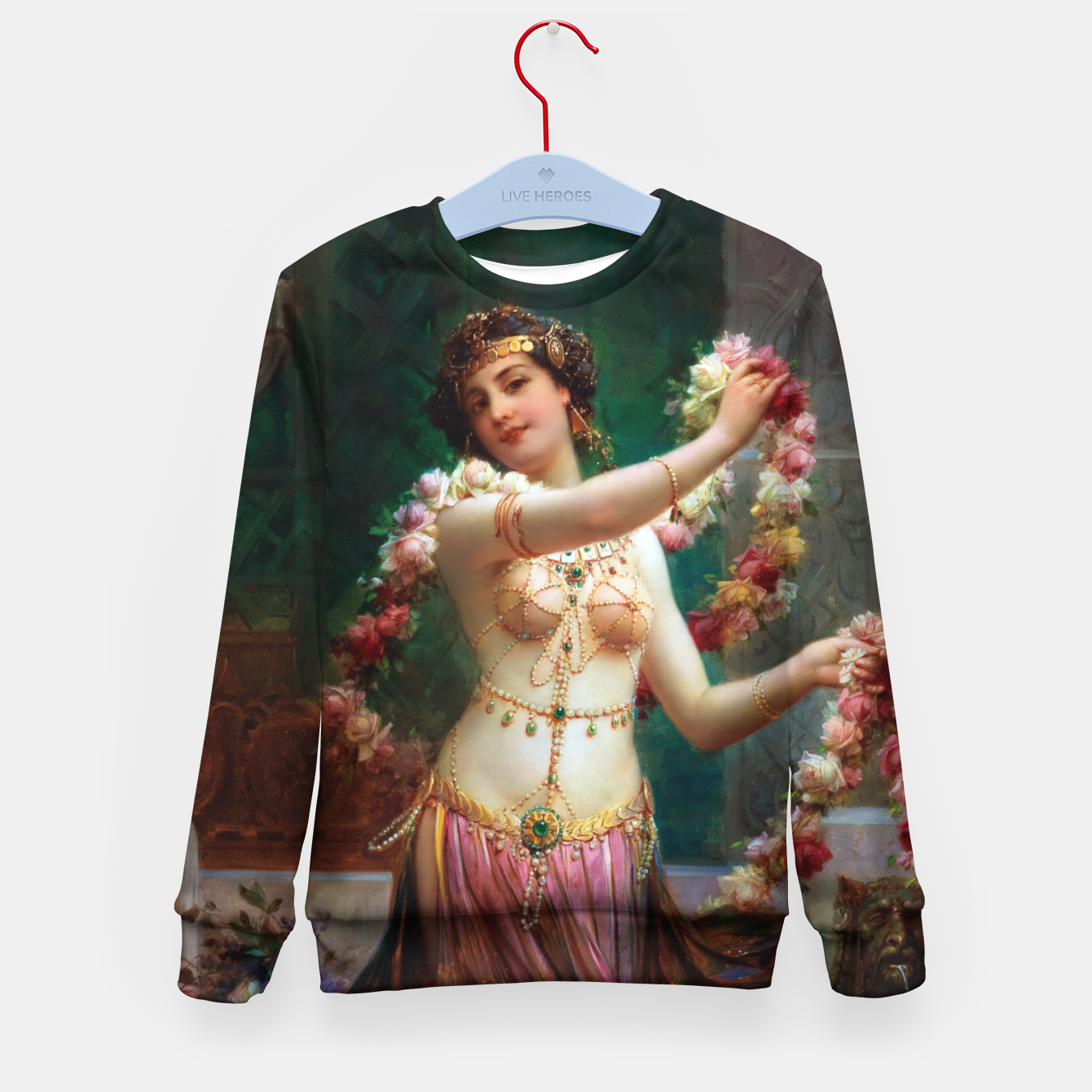 Zdjęcie The Belly Dancer by Hans Zatzka Old Masters Reproduction Kid's sweater - Live Heroes