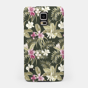 Thumbnail image of TROPICAL ORCHID PRINT IN ARMY GREEN & PINK Samsung Case, Live Heroes
