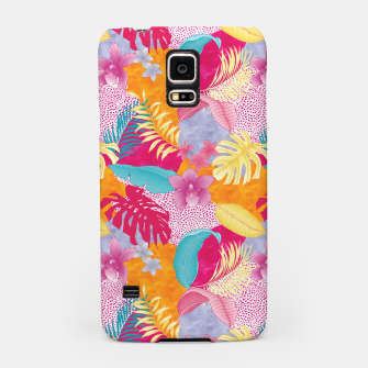 Thumbnail image of TROPICAL CHAOS PATCHWORK PRINT Samsung Case, Live Heroes