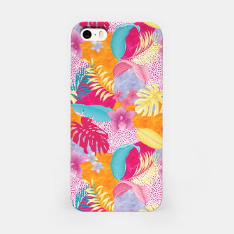 Thumbnail image of TROPICAL CHAOS PATCHWORK PRINT iPhone Case, Live Heroes