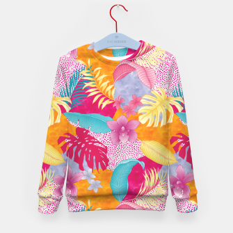 Thumbnail image of TROPICAL CHAOS PATCHWORK PRINT Kid's sweater, Live Heroes