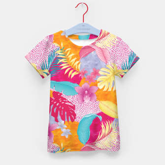 Thumbnail image of TROPICAL CHAOS PATCHWORK PRINT Kid's t-shirt, Live Heroes