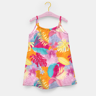 Thumbnail image of TROPICAL CHAOS PATCHWORK PRINT Girl's dress, Live Heroes