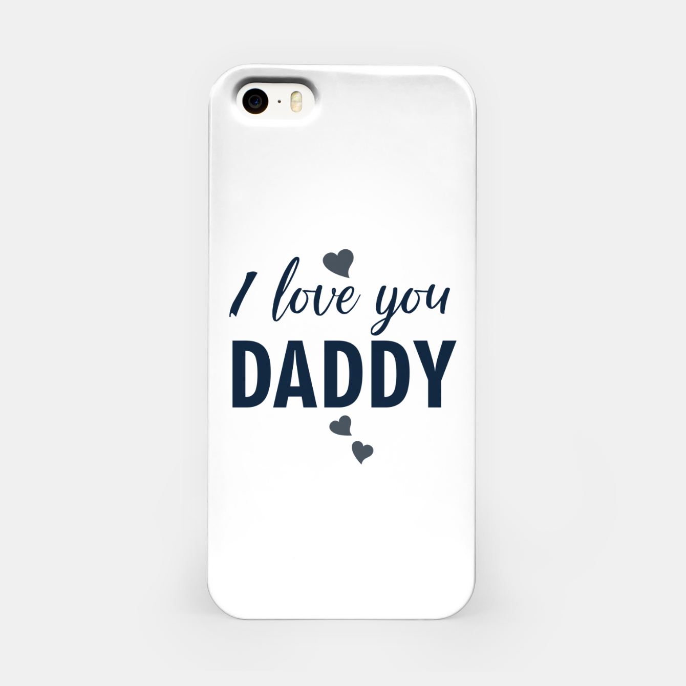 Image of I love you DADDY typographic print for all loving fathers iPhone Case - Live Heroes