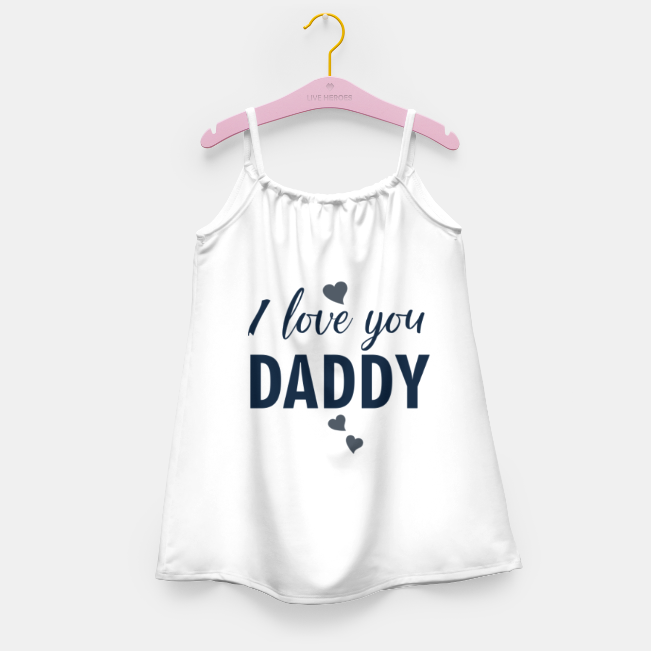 Image of I love you DADDY typographic print for all loving fathers Girl's dress - Live Heroes