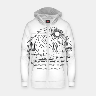 Miniaturka Beautiful Place for Camping Zip up hoodie, Live Heroes