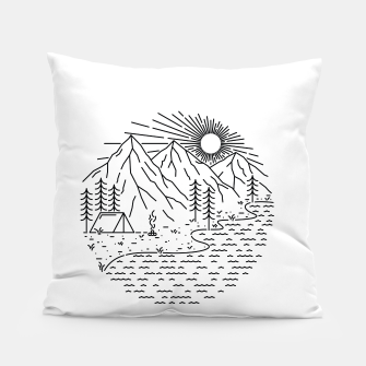 Miniaturka Beautiful Place for Camping Pillow, Live Heroes