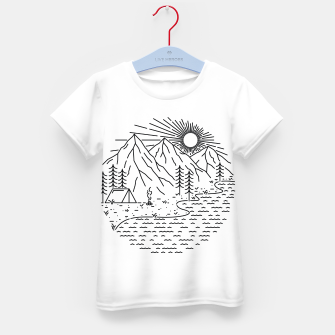 Miniaturka Beautiful Place for Camping Kid's t-shirt, Live Heroes