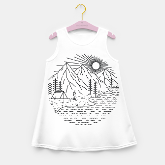 Miniaturka Beautiful Place for Camping Girl's summer dress, Live Heroes