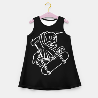 Thumbnail image of Grim Reaper Skateboarding Girl's summer dress, Live Heroes