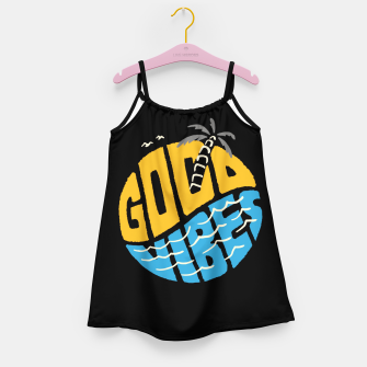 Thumbnail image of Good Vibes Typo Girl's dress, Live Heroes