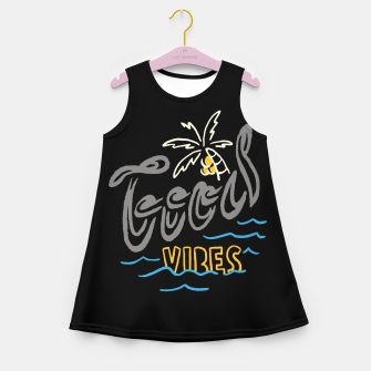 Thumbnail image of Good Vibes Typo Girl's summer dress, Live Heroes
