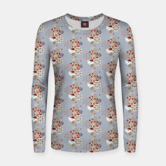 Thumbnail image of Japanese Snowflakes  Women sweater, Live Heroes