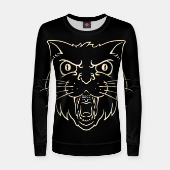 Thumbnail image of Angry Cat Women sweater, Live Heroes