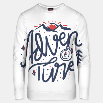 Thumbnail image of Adventure Typo Unisex sweater, Live Heroes