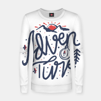 Thumbnail image of Adventure Typo Women sweater, Live Heroes