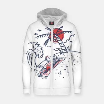 Thumbnail image of Relax Skeleton Zip up hoodie, Live Heroes