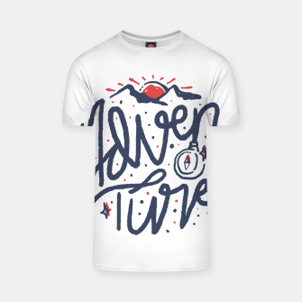 Thumbnail image of Adventure Typo T-shirt, Live Heroes