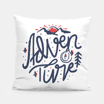 Thumbnail image of Adventure Typo Pillow, Live Heroes