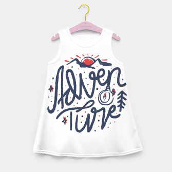 Thumbnail image of Adventure Typo Girl's summer dress, Live Heroes