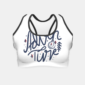 Thumbnail image of Adventure Typo Crop Top, Live Heroes