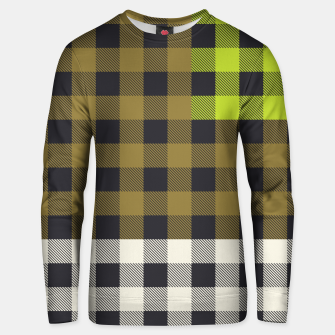 Thumbnail image of PATCHWORK BUFFALO CHECK IN ARMY GREEN Unisex sweater, Live Heroes