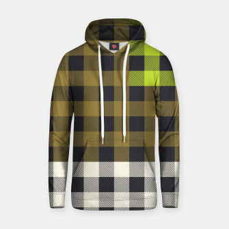Thumbnail image of PATCHWORK BUFFALO CHECK IN ARMY GREEN Hoodie, Live Heroes