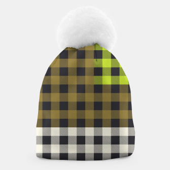 Thumbnail image of PATCHWORK BUFFALO CHECK IN ARMY GREEN Beanie, Live Heroes