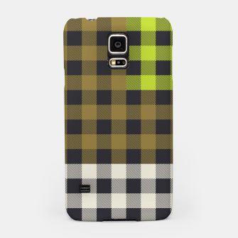 Thumbnail image of PATCHWORK BUFFALO CHECK IN ARMY GREEN Samsung Case, Live Heroes