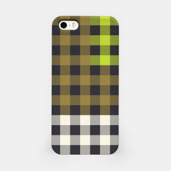 Thumbnail image of PATCHWORK BUFFALO CHECK IN ARMY GREEN iPhone Case, Live Heroes