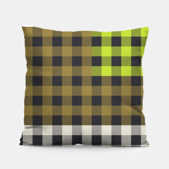 Thumbnail image of PATCHWORK BUFFALO CHECK IN ARMY GREEN Pillow, Live Heroes