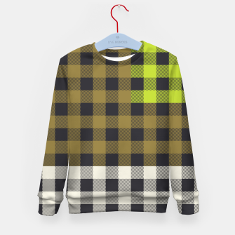 Thumbnail image of PATCHWORK BUFFALO CHECK IN ARMY GREEN Kid's sweater, Live Heroes