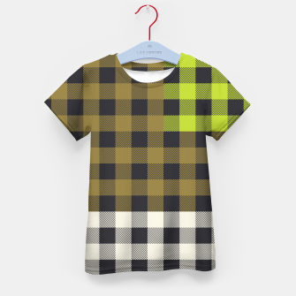 Thumbnail image of PATCHWORK BUFFALO CHECK IN ARMY GREEN Kid's t-shirt, Live Heroes