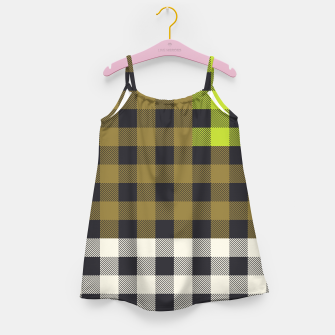 Thumbnail image of PATCHWORK BUFFALO CHECK IN ARMY GREEN Girl's dress, Live Heroes