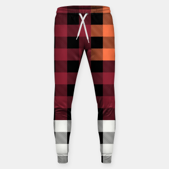 Imagen en miniatura de PATCHWORK BUFFALO CHECK IN RED Sweatpants, Live Heroes