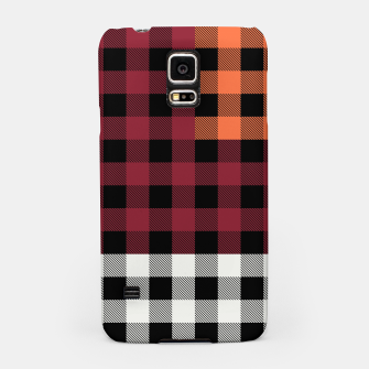 Imagen en miniatura de PATCHWORK BUFFALO CHECK IN RED Samsung Case, Live Heroes