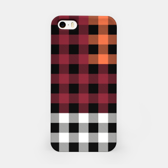 Imagen en miniatura de PATCHWORK BUFFALO CHECK IN RED iPhone Case, Live Heroes