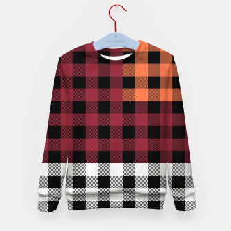 Imagen en miniatura de PATCHWORK BUFFALO CHECK IN RED Kid's sweater, Live Heroes