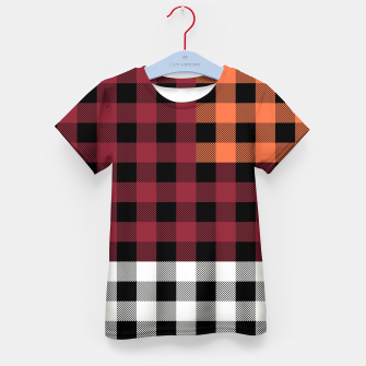 Imagen en miniatura de PATCHWORK BUFFALO CHECK IN RED Kid's t-shirt, Live Heroes