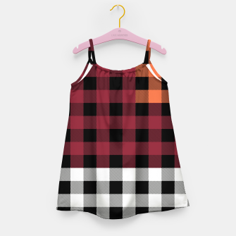 Imagen en miniatura de PATCHWORK BUFFALO CHECK IN RED Girl's dress, Live Heroes