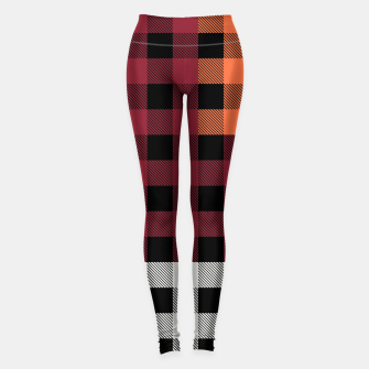 Imagen en miniatura de PATCHWORK BUFFALO CHECK IN RED Leggings, Live Heroes