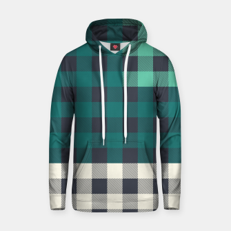 Thumbnail image of PATCHWORK BUFFALO CHECK IN TEAL Hoodie, Live Heroes