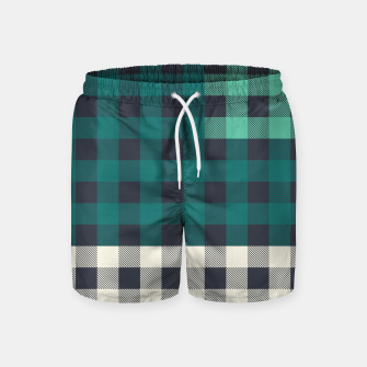 Imagen en miniatura de PATCHWORK BUFFALO CHECK IN TEAL Swim Shorts, Live Heroes